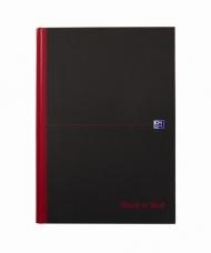 Блокнот Oxford Black n Red bookbound notebook A4 клетка 96л фиксирующаяся резинка твердая обложка