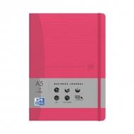 Блокнот Oxford Office Signature A5 72л клетка фиксирующая резинка твердая обложка красный рубиновый