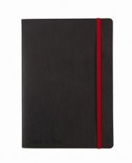 Блокнот Oxford Black n Red A5 72л фиксирующая резинка карман мягкая обложка