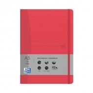 Блокнот Oxford Office Signature A5 линейка 72л фикс.резинка карман мягкая полипроп.обложка красный