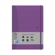 Блокнот Oxford Office Signature A5 72л линейка фиксирующая резинка твердая обложка пурпурный