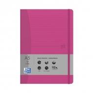 Блокнот Oxford Office Signature A5 72л линейка фиксирующая резинка твердая обложка розовый