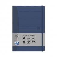 Блокнот Oxford Office Signature A5 72л клетка фиксирующая резинка твердая обложка синий