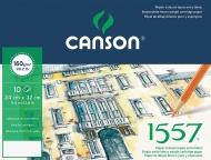 Папка с бумагой для графики Canson 1557 Dessin Ja 160г/кв.м 24*32см мелкое зерно 10 листов