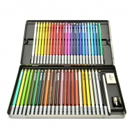 Пастельные карандаши Stabilo CarbOthello, 48 цветов, ластик, точилка, растушевка