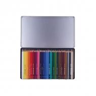Набор цветных карандашей с тонким грифелем Stabilo Original, 38 цветов, металлический футляр
