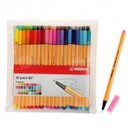 Набор капиллярных ручек Stabilo Point 88 для письма, рисования и черчения, 40 цветов