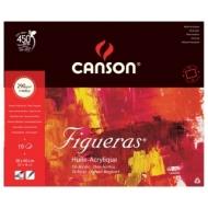 Блок для масла Canson Figueras 290г/кв.м 46*38см 10листов Зерно холста склейка по 4 сторонам