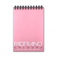 Блокнот для зарисовок FABRIANO Colours тонированная бумага 80 г/м2, розовый, 100 л