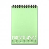 Блокнот для зарисовок FABRIANO Colours тонированная бумага 80 г/м2, аквамарин, 100 л
