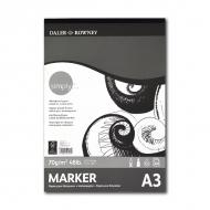Альбом для рисования маркерами и карандашами «Simply» Daler Rowney 40 листов А3, 70 г/м2