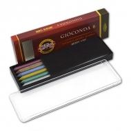 Стержни графитовые Gioconda KOH-I-NOOR цветные, 5,6 мм, твердость HB, набор 6 шт.