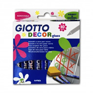Восковые карандаши GIOTTO Decor Glass FILA для декора стекла и зеркал, набор 10 цветов