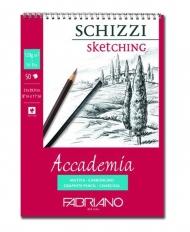 Альбом для зарисовок Fabriano Accademia 120г/м.кв 14,8x21см мелкозернистая 50л спираль по короткой стороне