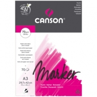 Альбом для маркера Canson Marker Layout 70г/кв.м 29.7*42см 70листов экстра гладкая склейка по короткой стороне