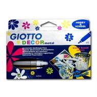 Набор фломастеров-металлик FILA GIOTTO Decor Metal для декорирования, 5 цветов