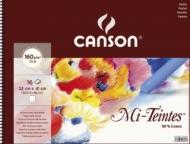 Альбом для пастели Canson Mi-Teintes 160г/кв.м 32x41см 16листов №335 белый спираль