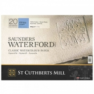 "Бумага для акварели Saunders Waterford C,P, Blocks White  300 g/m² 260x180mm (10"" x 7"") (20 листов)"