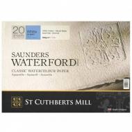 "Бумага для акварели Saunders Waterford C,P, Blocks White  300 g/m² 310x230mm (12"" x 9"") (20 листов)"