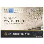 "Бумага для акварели Saunders Waterford C,P, Blocks White  300 g/m² 360x260mm (14"" x 10"") (20 листов)"