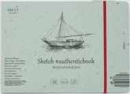 Альбом SM-LT Art Authentic White 90г/м2 24.5х17.6cм 32 листа с закладкой-застежкой книжный переплет (сшитый)
