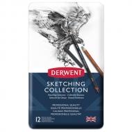 Набор карандашей Derwent Sketching Collection 12 цветов, металлический пенал