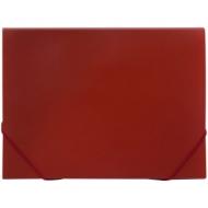 Папка 13 отделений OfficeSpace, A4, 500мкм, на резинке, красная