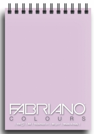 Блокнот для зарисовок Fabriano Colours 80г/м.кв 10,5x14,8см Лаванда 100л спираль по короткой стороне