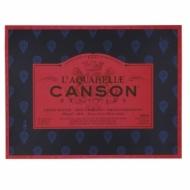 Блок для акварели Canson Heritage 300г/кв.м (хлопок) 31*41см 20листов Сатин склейка по 4 сторонам