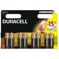 Батарейка Duracell Basic AA (LR06) алкалиновая, 8BL (8шт. упаковка)