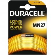 Батарейка Duracell MN27 (27A) 12V алкалиновая, 1BL (1шт. упаковка)