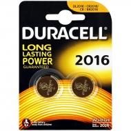 Батарейка Duracell CR2016 3V литиевая, 2BL (2шт. упаковка)