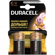 Батарейка Duracell Basic C (LR14) алкалиновая, 2BL (2шт. упаковка)