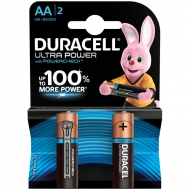 Батарейка Duracell UltraPower AA (LR06) алкалиновая, 2BL (2шт. упаковка)