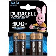 Батарейка Duracell UltraPower AA (LR06) алкалиновая, 4BL (4шт. упаковка)