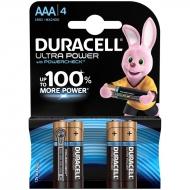 Батарейка Duracell UltraPower AAA (LR03) алкалиновая, 4BL (4шт. упаковка)