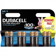 Батарейка Duracell UltraPower AA (LR06) алкалиновая, 8BL (8шт. упаковка)