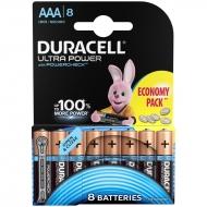 Батарейка Duracell UltraPower AAA (LR03) алкалиновая, 8BL (8шт. упаковка)