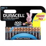 Батарейка Duracell UltraPower AAA (LR03) алкалиновая, 12BL (12шт. упаковка)