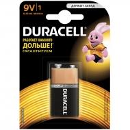 Батарейка Duracell Basic MN1604 (6LR61) 9V Крона, алкалиновая, 1BL (1шт. упаковка)