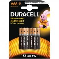 Батарейка Duracell Basic AAA (LR03) алкалиновая, 6BL (6шт. упаковка)
