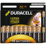 Батарейка Duracell Basic AA (LR06) алкалиновая, 18BL (18шт. упаковка)