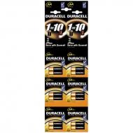 Батарейка Duracell Basic AA (LR06) алкалиновая, 2BL, (12шт. упаковка)