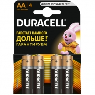 Батарейка Duracell Basic AA (LR06) алкалиновая, 4BL (4шт. упаковка)