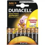 Батарейка Duracell Basic AAA (LR03) алкалиновая, 8BL (8шт. упаковка)