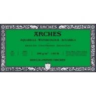 Блок для акварели Arches 300г/кв.м (хлопок) 15*30см 20л Фин, склейка