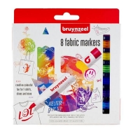 Набор маркеров для росписи по ткани Bruynzeel,  8 цветов