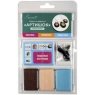 """Набор пластики для изготовления украшений Сонет """"Артишок"""", 03 цвета, 120г, блистер"""