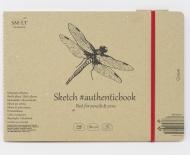 Альбом SM-LT Art Authentic Cream 80г/м2 24.5х17.7cм 36 листов с закладкой-застежкой книжный переплет (сшитый)