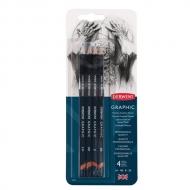 Набор чернографитных карандашей Graphic Medium 4шт 2B/B/HB/2H в блистере